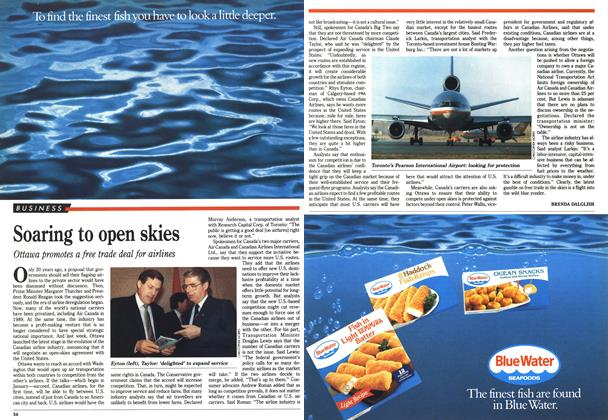 Article Preview: Soaring to open skies, October 1990 | Maclean's