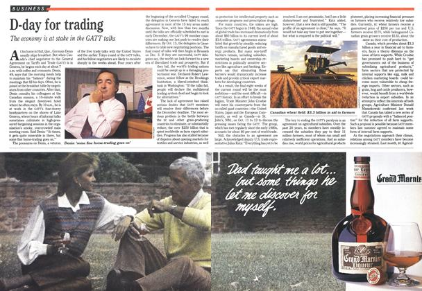 Article Preview: D-day for trading, October 1990 | Maclean's
