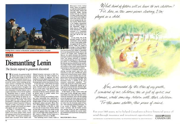 Article Preview: Dismantling Lenin, October 1990 | Maclean's