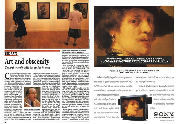 Article Preview: Art and obscenity, October 1990 | Maclean's