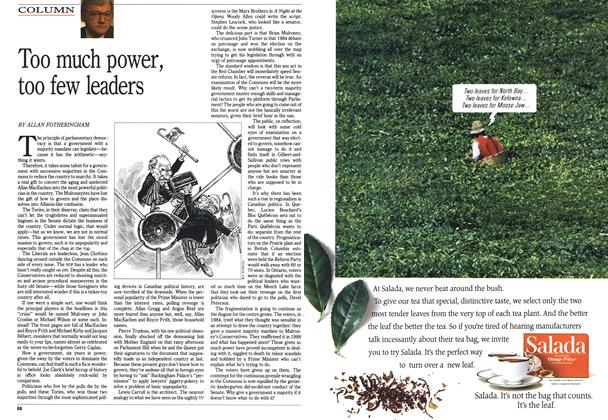 Article Preview: Too much power, too few leaders, October 1990 | Maclean's