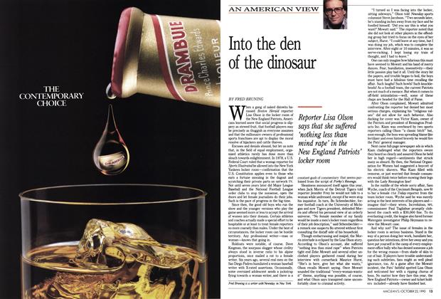 Article Preview: Into the den of the dinosaur, October 1990 | Maclean's