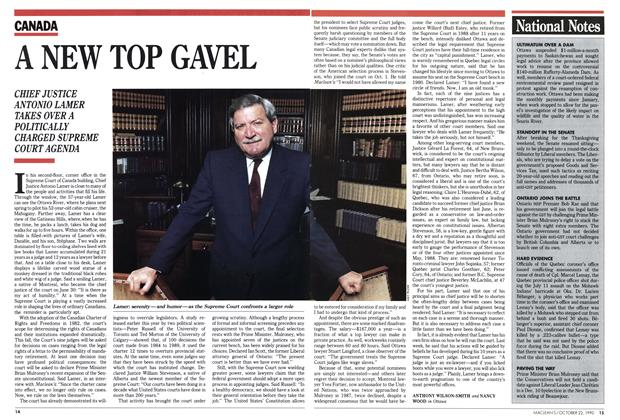 Article Preview: A NEW TOP GAVEL, October 1990 | Maclean's