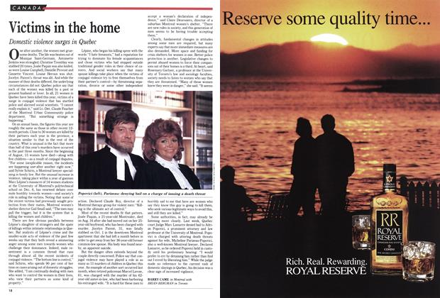 Article Preview: Victims in the home, October 1990 | Maclean's