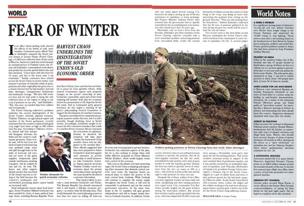 Article Preview: FEAR OF WINTER, October 1990 | Maclean's