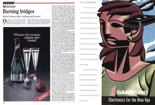 Article Preview: Burning bridges, October 1990 | Maclean's