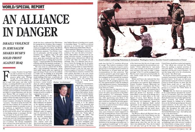 Article Preview: AN ALLIANCE IN DANGER, October 1990 | Maclean's