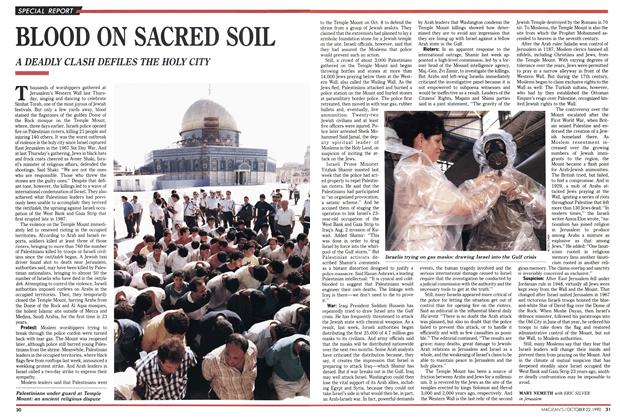 Article Preview: BLOOD ON SACRED SOIL, October 1990 | Maclean's