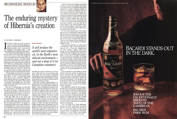 Article Preview: The enduring mystery of Hibernia's creation, October 1990 | Maclean's