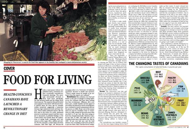 Article Preview: FOOD FOR LIVING, October 1990 | Maclean's