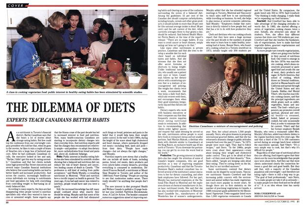 Article Preview: THE DILEMMA OF DIETS, October 1990 | Maclean's