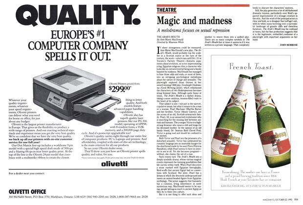 Article Preview: Magic and madness, October 1990 | Maclean's