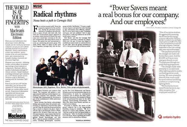Article Preview: Radical rhythms, October 1990 | Maclean's
