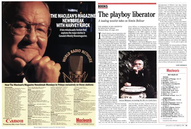 Article Preview: The playboy liberator, October 1990 | Maclean's