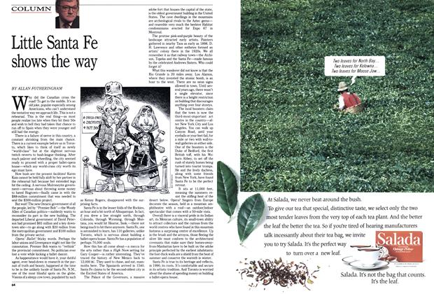 Article Preview: Little Santa Fe shows the way, October 1990 | Maclean's