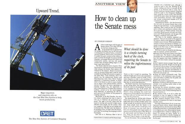 Article Preview: How to clean up the Senate mess, October 1990 | Maclean's