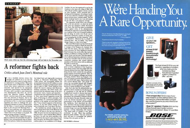 Article Preview: A reformer fights back, October 1990 | Maclean's