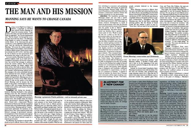 Article Preview: THE MAN AND HIS MISSION, October 1990 | Maclean's