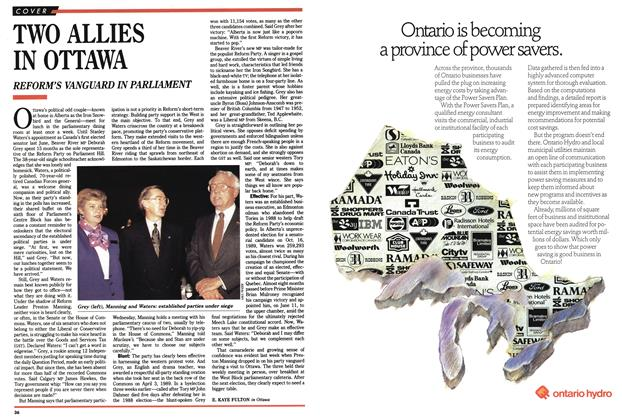 Article Preview: TWO ALLIES IN OTTAWA, October 1990 | Maclean's