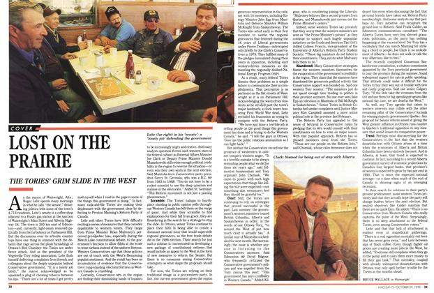 Article Preview: LOST ON THE PRAIRIE, October 1990 | Maclean's