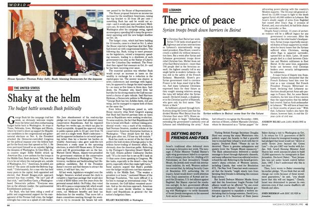 Article Preview: The price of peace, October 1990 | Maclean's