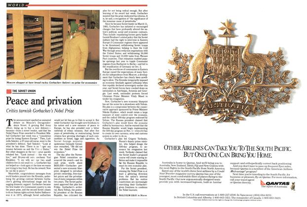 Article Preview: Peace and privation, October 1990 | Maclean's