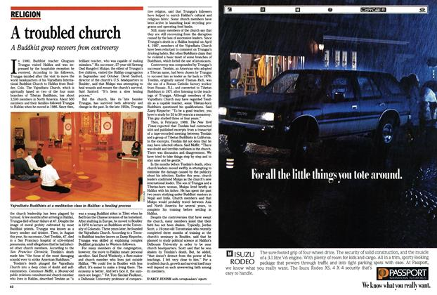 Article Preview: A troubled church, October 1990 | Maclean's