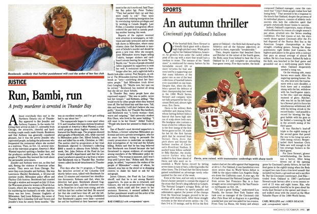Article Preview: An autumn thriller, October 1990 | Maclean's
