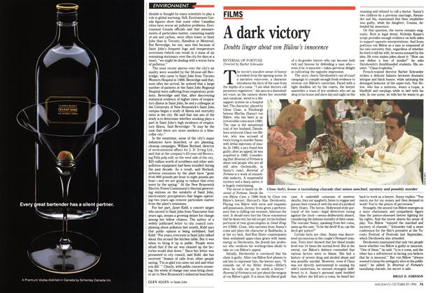 Article Preview: A dark victory, October 1990 | Maclean's