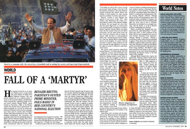 Article Preview: FALL OF A 'MARTYR', November 1990 | Maclean's