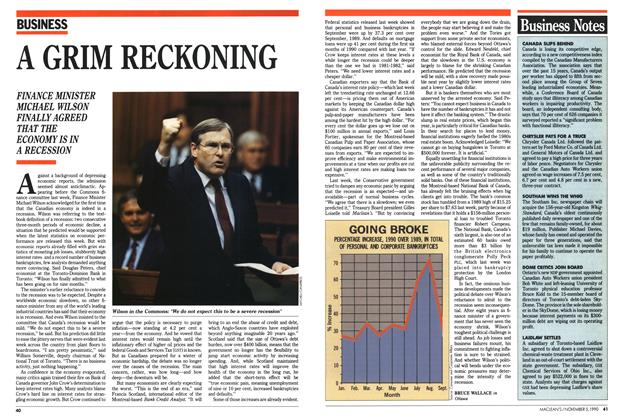 Article Preview: A GRIM RECKONING, November 1990 | Maclean's