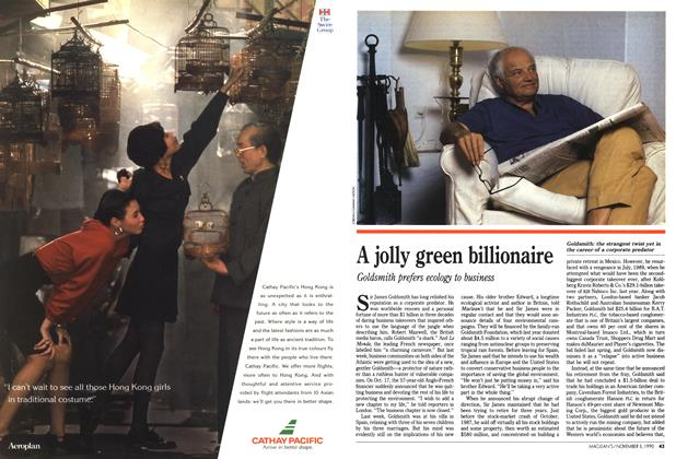 Article Preview: A jolly green billionaire, November 1990 | Maclean's