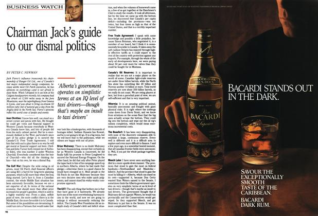 Article Preview: Chairman Jack's guide to our dismal politics, November 1990 | Maclean's