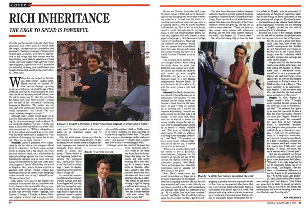 Article Preview: RICH INHERITANCE, November 1990 | Maclean's