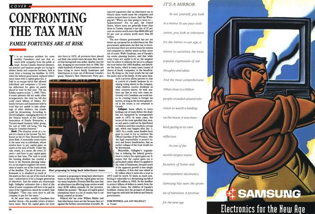 Article Preview: CONFRONTING THE TAX MAN, November 1990 | Maclean's