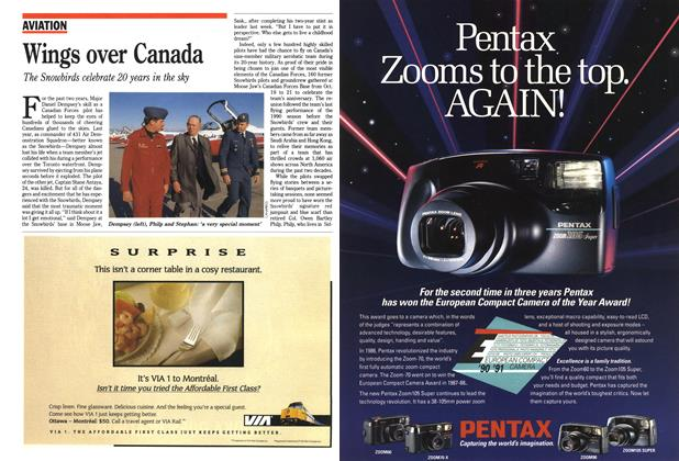 Article Preview: Wings over Canada, November 1990   Maclean's