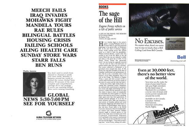Article Preview: The sage of the Hill, November 1990 | Maclean's