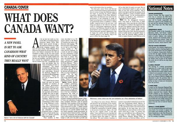 Article Preview: WHAT DOES CANADA WANT?, November 1990 | Maclean's