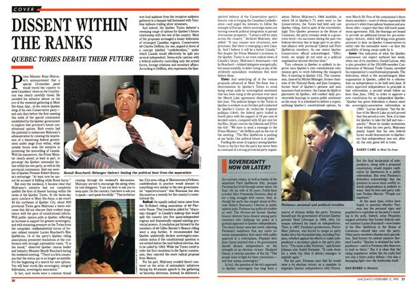 Article Preview: DISSENT WITHIN THE RANKS, November 1990 | Maclean's