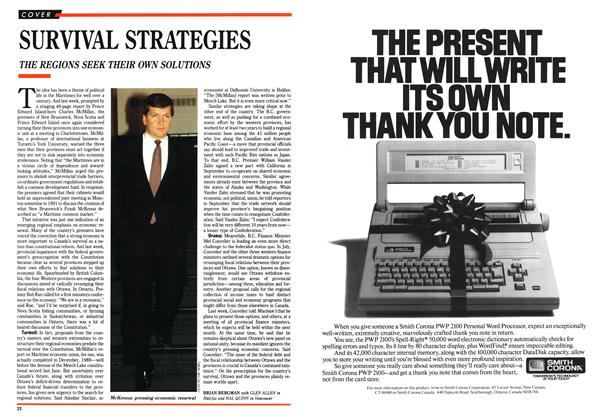 Article Preview: SURVIVAL STRATEGIES, November 1990 | Maclean's
