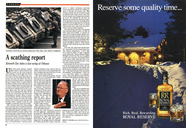 Article Preview: A scathing report, November 1990 | Maclean's