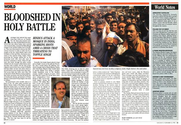 Article Preview: BLOODSHED IN HOLY BATTLE, November 1990 | Maclean's