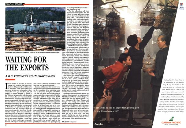 Article Preview: WAITING FOR THE EXPORTS, November 1990 | Maclean's
