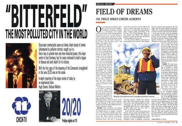 Article Preview: FIELD OF DREAMS, November 1990 | Maclean's