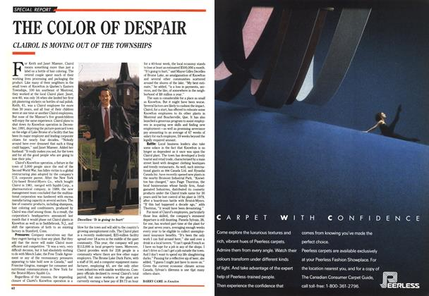 Article Preview: THE COLOR OF DESPAIR, November 1990 | Maclean's