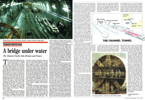 Article Preview: A bridge under water, November 1990 | Maclean's