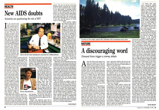 Article Preview: A discouraging word, November 1990 | Maclean's