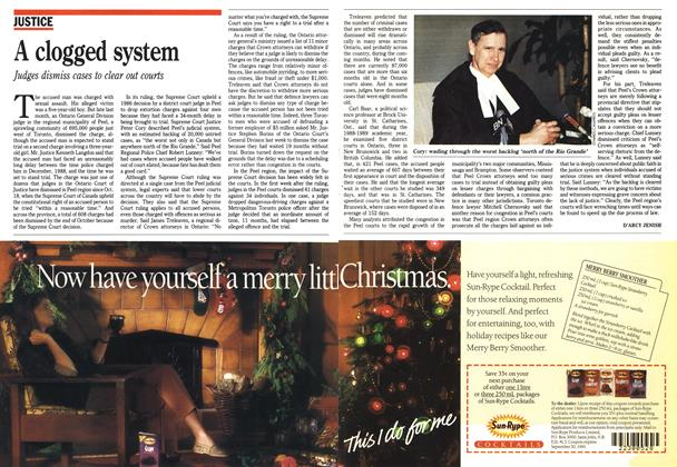 Article Preview: A clogged system, November 1990 | Maclean's