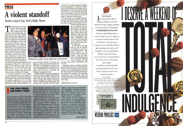 Article Preview: A violent standoff, November 1990 | Maclean's