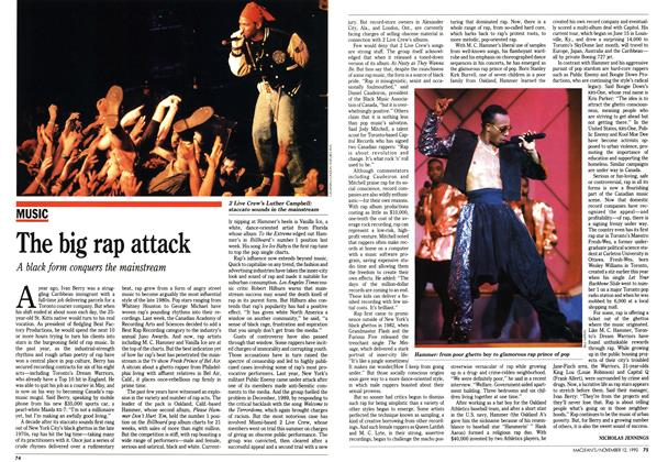 Article Preview: The big rap attack, November 1990 | Maclean's